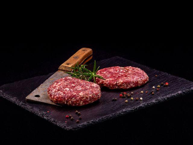 Burger mletý z vyzrálého hovězího masa