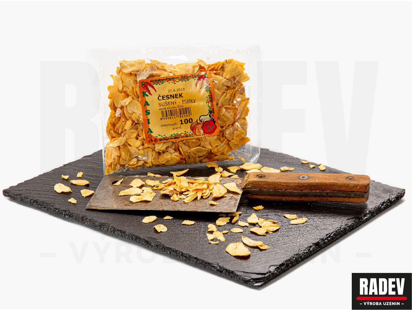 Česnek sušený, plátky 100 g