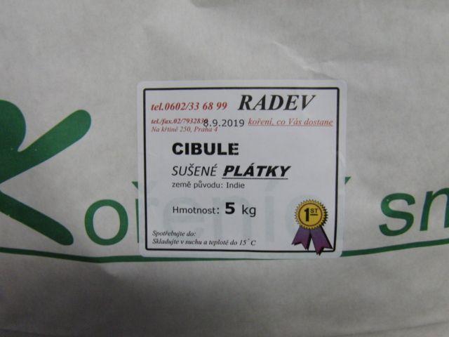 Cibule sušená, plátky 5 kg