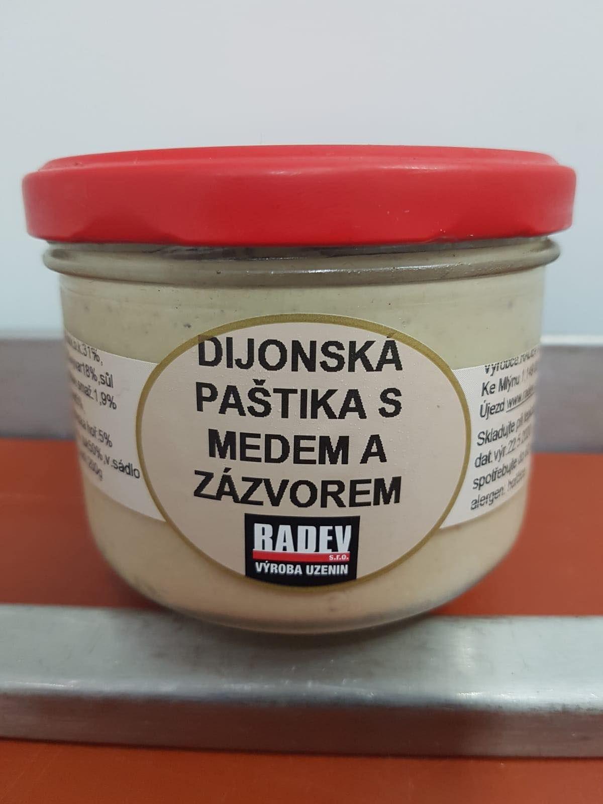 Domácí dijonská paštika se zázvorem 200 g