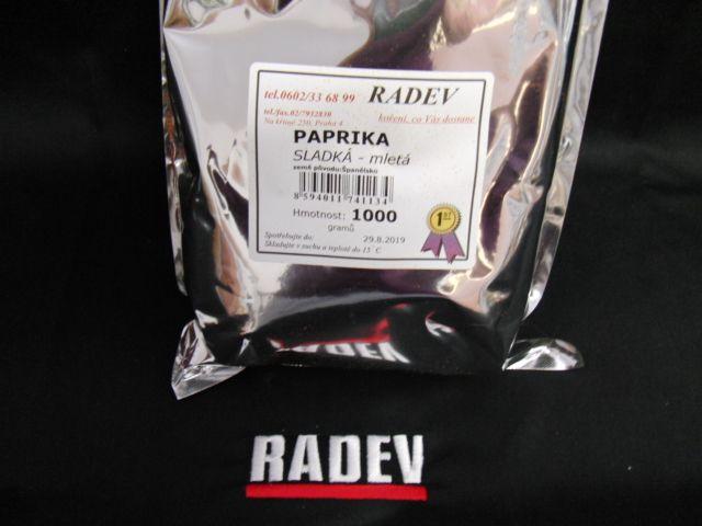 Paprika sladká 80 ASTA 1 kg