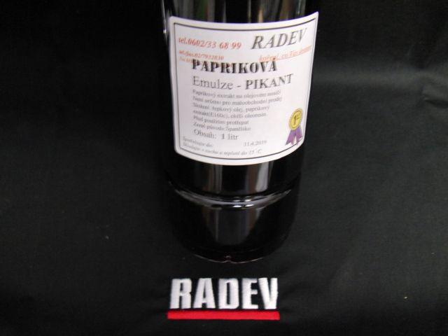 Papriková emulze pikant 1l