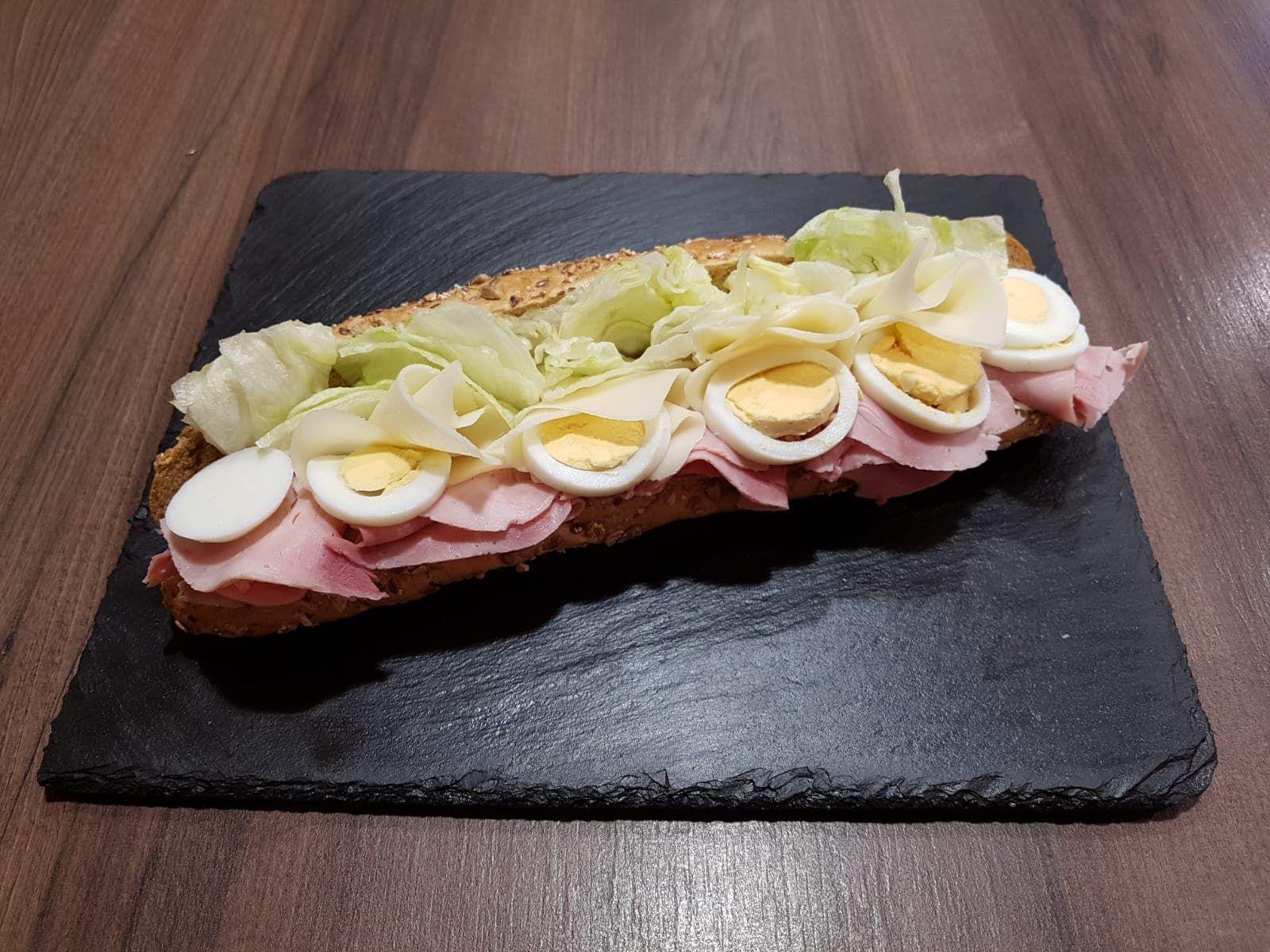 Fit Bageta šunka, sýr, vejce